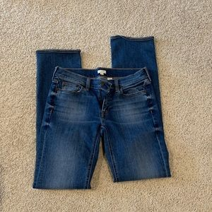 J Crew sz 26R stretch straight leg jeans